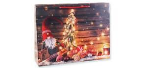Weihn.Geschenktragetasche Wichtel 06-0367 29x38x10cm Produktbild