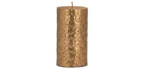 Stumpenkerze Pailetten gold Produktbild