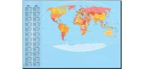 Schreibunterlage Weltkarte Produktbild