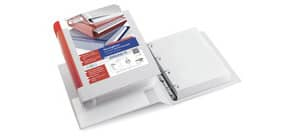 Raccoglitore personalizzabile Sei Rota Stelvio TI A5 - 4 anelli D 25 mm. blu 36255537 Immagine del prodotto