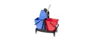 Kit Carrello Duo Bravo Rubbermaid +2 secchi 18 L + strizzatore rosso/blu R015111 Immagine del prodotto