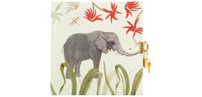 Tagebuch Wild Life m.Schloss Elephant Produktbild
