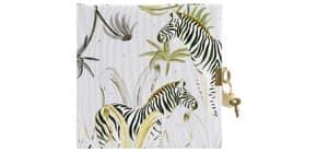 Tagebuch m.Schloss Wild Life Zebra Produktbild
