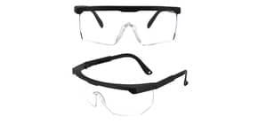 Occhiali di protezione riutilizzabili in policarbonato trasparente - 15,5x5,4 cm - 470405 Immagine del prodotto