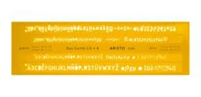 Schriftschablone Duo 3.5+5 mm Produktbild