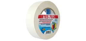 Nastro adesivo in tela Tes 702 SYROM formato 38mm x 25 m - materiale tela plastificata bianco - 1723 Immagine del prodotto