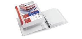 Raccoglitore personalizzabile Sei Rota Stelvio TI A4 - 4 anelli D 30 mm. rosso 36304132 Immagine del prodotto