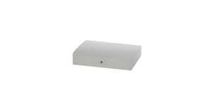 Cartella portaprogetti a 3 lembi DISPACO 25x35 cm polionda cannettato bianco trasparente dorso 6 cm - 3606 Immagine del prodotto