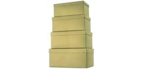 Geschenkkarton Uni gold Produktbild