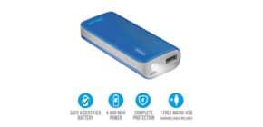 Caricatore portatile Powerbank 4400 Trust Primo blu 21225 Immagine del prodotto