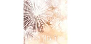 Neujahr Zelltuchserviette 33x33cm HOME F. 611907 Produktbild