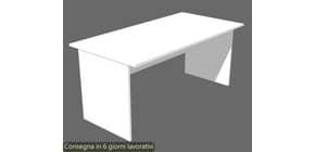 Scrivania Artexport linea Presto 140x80x72 cm fianchi melanimico spess. 22 mm bianco - 002+60111/3 Immagine del prodotto