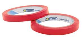 Nastro adesivo da imballo SYROM formato 9 mm x 66 m - materiale ppl rosso conf. da 16 - 19008 Immagine del prodotto