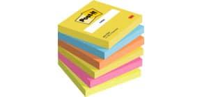 Foglietti riposizionabili Post-it® Notes Energy 76x76 mm neon assortiti conf. 6 bloc. da 100 ff - 654-TFEN Immagine del prodotto