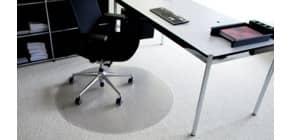 Bodenschutzmatte rund 90cm transparent ROLLT&SCHÜTZT 33-090R Teppich ROLLT&SCHÜTZT 33-090R Produktbild