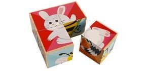 Puzzle Würfel Set 4-tlg. 610017 BIG TREE HS109 Holz Produktbild