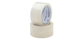 Nastro adesivo da imballo Bonus Tape SYROM 50 mm x 132 m trasparente conf. da 6 -19015 Immagine del prodotto
