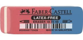 Gomma Faber-Castell 7070-40 rosso/blu dimensioni 50x18x8 mm 187040 Immagine del prodotto