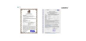 Mascherine monouso FFP2 – Certificazione CE 2163 - bianche – Scatola 20 pezzi confezionati singolarmente Immagine del prodotto