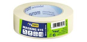 Nastro adesivo in carta Masking 615 SYROM avorio formato 38 mm x 50 m 7461 Immagine del prodotto