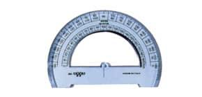 Goniometro ARDA Linea Uni plastica termoresistente fumé ottico trasparente 180° 12 cm - 284SS Immagine del prodotto