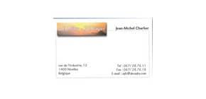 Biglietti da visita Decadry bordo liscio angoli vivi 85x54 mm. Fogli A4 bianco Conf. 500 biglietti - T123342 Immagine del prodotto