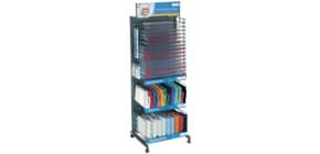 Verkaufsständer gefüllt mit Buchhüllen HERMA 66438 Hefthüllen transparent Produktbild