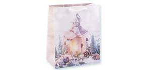Weihn.Geschenktragetasche Laterne 06-0371 23x19x10,5cm Produktbild