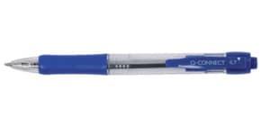 Penna a sfera a pulsante Q-Connect punta M blu conf. da 10 - KF00268 Immagine del prodotto