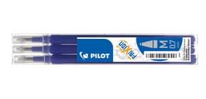 Refill penne a sfera Pilot Frixion Ball e Clicker 0,7 mm blu Set 3 pezzi - 006657 Immagine del prodotto