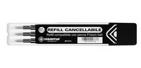 Refill inchiostro gel cancellabile RISCRIVI 0,7 mm nero astuccio da 3 - OW 10136 N Immagine del prodotto