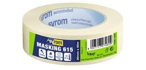 Nastro adesivo in carta Masking 615 SYROM avorio formato 30 mm x 50 m 7460 Immagine del prodotto