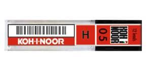 Astuccio mine per portamine KOH-I-NOOR 0,5mm - gradazione H 12 mine - E205-H Immagine del prodotto