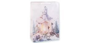 Weihn.Geschenktragetasche Laterne 06-0372 32x23x10,5cm Produktbild