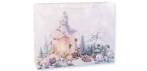 Weihn.Geschenktragetasche Laterne 06-0373 29x38x10cm Produktbild