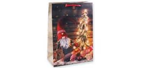 Weihn.Geschenktragetasche Wichtel 06-0366 32x23x10,5cm Produktbild