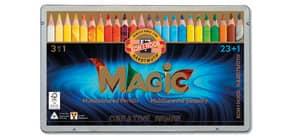 Astuccio matite multicolore KOH-I-NOOR legno di cedro 23 colori 23 matite + 1 blender - H3408024 Immagine del prodotto
