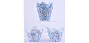 Deko-Muffin-Wrapper 24ST Einhorn 1414322410 14x14cm  Produktbild