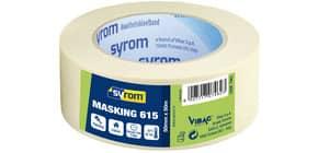 Nastro adesivo in carta Masking 615 SYROM avorio formato 50 mm x 50 m 7462 Immagine del prodotto