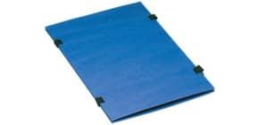 Bändermappe A4 blau Produktbild
