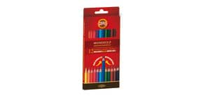 Astuccio matite multicolore KOH-I-NOOR legno di cedro 12 matite - H2139N Immagine del prodotto