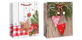 Weihn.Geschenktragetasche 2ST sort. 06-0693 23x19x10,5cm Produktbild