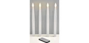 LED Kerze 4ST weiß Produktbild