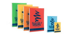 Album da disegno Favini SCHIZZA&STRAPPA in carta naturale liscia 50 g/m² 21x29,7 (A4) -150fg - A200704 Immagine del prodotto