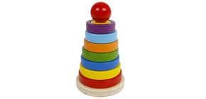 Geschicklichkeitsspiel Stapelpyramide BIG TREE HS110 Holz 610031 Produktbild
