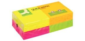Foglietti riposizionabili Q-Connect 70 g/m² assortiti neon 76x76 mm 12 blocchetti da 80 ff - KF10508 Immagine del prodotto