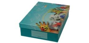 Schulbedarfsschachtel Painted Hands DONAU 8400101 Produktbild