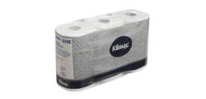 Carta igienica 3 veli KLEENEX® in carta a 3 veli 350 strappi bianco pacco da 6 rotoli - 8440 Immagine del prodotto