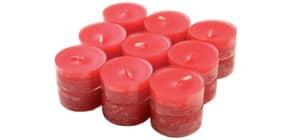 Teelicht 18 Stück rot Produktbild