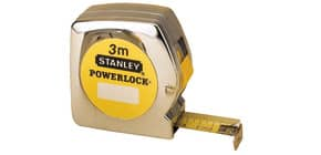 Flessometro STANLEY Powerlock 3 m x 12,7 mm - nastro in acciaio rivestito in Mylar - gancio per cintura - M33218 Immagine del prodotto